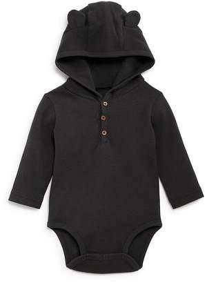 Oliver & Rain Boys' Hooded Waffle-Knit Bodysuit - Baby