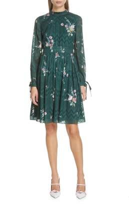 Ted Baker Sofiya Floral Ribbon Tie Dress