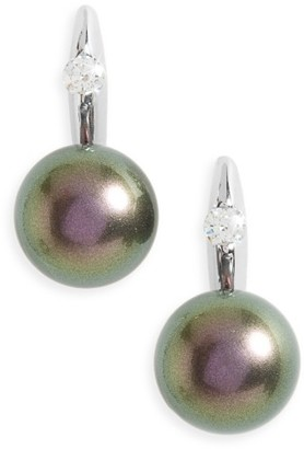 Women's Majorica Simulated Pearl Drop Earrings $85 thestylecure.com