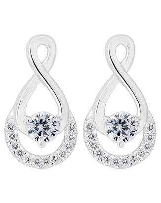 Jon Richard Simply Silver By Simply Silver Infinity Drop Earring