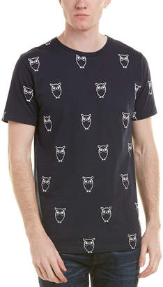 Knowledge Cotton Apparel Knowledgecotton Owl Print T-Shirt