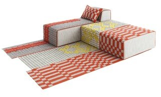 Gandia Blasco Bandas Space Single B Orange Area Rug