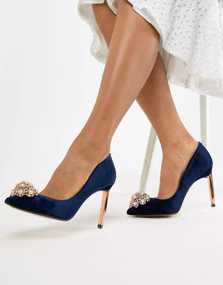 c6b8a2756d2 Ted baker pointed embellished high heels jpg 321x410 Navy high heel shoes uk