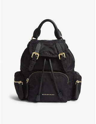 Burberry Black and Gold Small Backpack