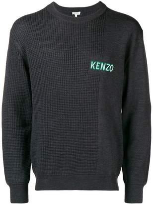 Kenzo contrasting logo sweater