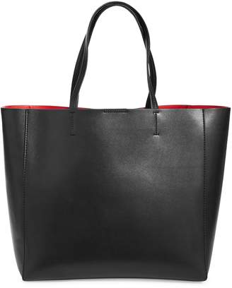 Sfw Classic Snap-Top Leather Tote