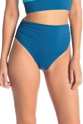 Vince Camuto Shirred High Waist Bikini Bottoms