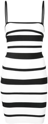 Herve Leger striped strappy mini dress