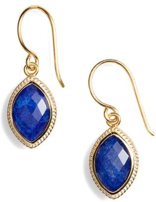 Anna Beck Lapis Marquise Drop Earrings