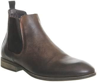 Ask the Missus Etta Chelsea Boots Dark Brown Nubuck
