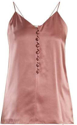 Hillier Bartley - V Neck Silk Satin Cami Top - Womens - Pink