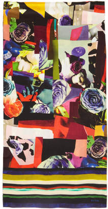 Paul Smith Multicolor Rose Collage Scarf