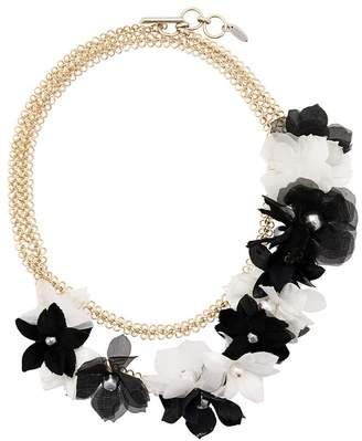 Lanvin flower embellished necklace