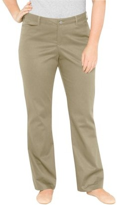Dickies Women's Plus-Size Relaxed Boot cut Pants