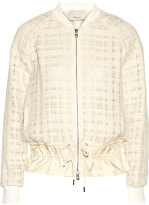 3.1 Phillip Lim - Silk-trimmed Tweed Jacket - Cream $795 thestylecure.com