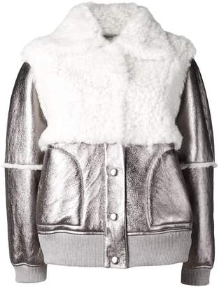 See by Chloe shearling patch bomber jacket