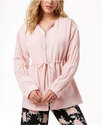 Kensie Ruched-Sleeve Anorak Jacket