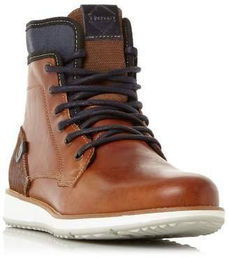 Dune Tan 'Cambus' Contrasting Sole Lace Up Boots