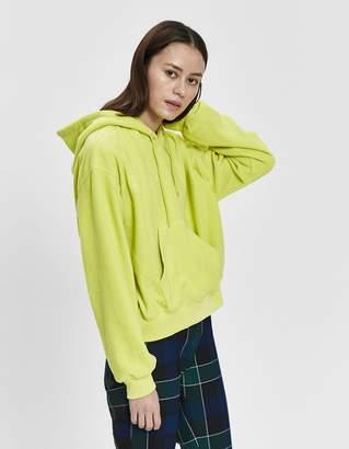 Stussy Bristol Hooded Fleece Pullover in Lemon