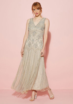 Pisarro Nights All Aisles on You Maxi Dress in Champagne $250 thestylecure.com
