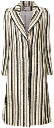Lanvin long striped coat