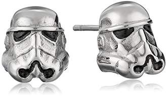 Star Wars Jewelry Unisex 3D Storm Trooper Stainless Steel Stud Earrings