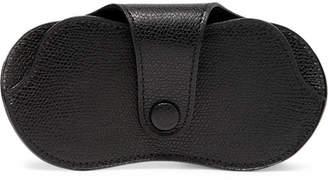 Valextra Pebble-Grain Leather Glasses Case