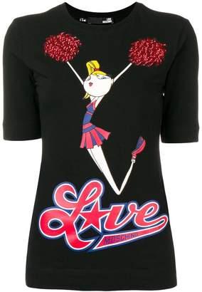 Love Moschino cheerleader T-shirt