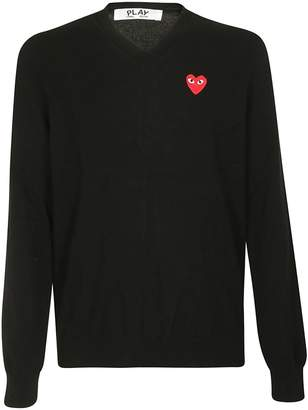 Comme des Garcons Play Play Polka Dot Pattern Sweater