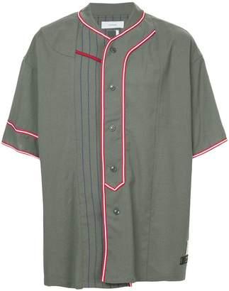 Facetasm x Woolmark panelled baseball shirt