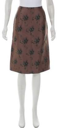 Louis Vuitton Silk-Blend Skirt