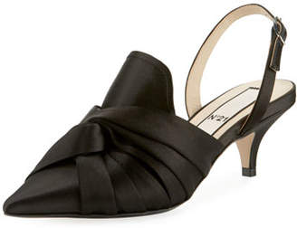 No.21 No. 21 Knotted Satin Slingback Pumps