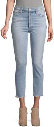 Citizens of Humanity Olivia Slim High-Rise Crop Ankle Jeans
