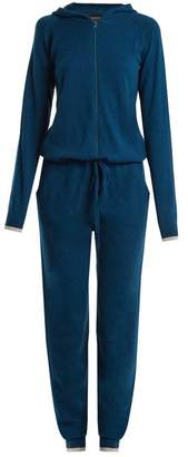 Pepper & Mayne - Hooded Cashmere Jumpsuit - Womens - Navy