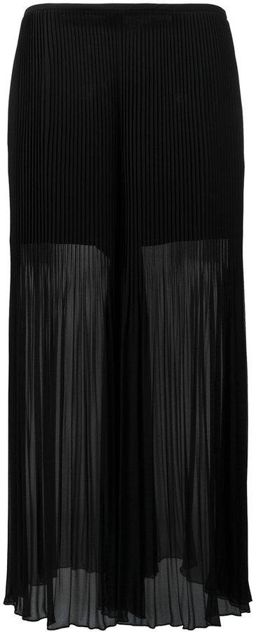 Armani CollezioniArmani Collezioni pleated detail flared pants