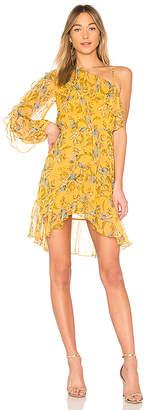 Nicholas Ava Floral One Shoulder Frill Dress