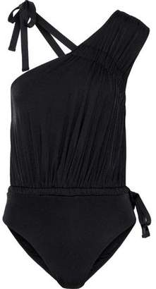 Derek Lam 10 Crosby Asymmetric Ruched Swimsuit