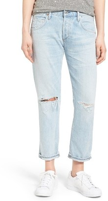 Women's Citizens Of Humanity Emerson High Waist Ripped Boyfriend Jeans $248 thestylecure.com