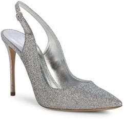 Casadei Hollywood Glitter Slingback Stiletto Heels