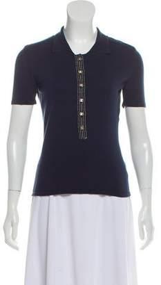 Salvatore Ferragamo Knit Button-Up Top