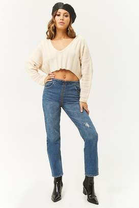Forever 21 Zippered Ankle Jeans