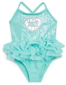 Juicy Couture Baby Girl's One-Piece Heart Swimsuit