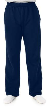 Fruit of the Loom Mens Soft Light-Weight Fleece Open Bottom Sweatpant, with pockets