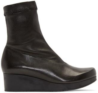Robert Clergerie Black Nerdall Sock Boots $650 thestylecure.com