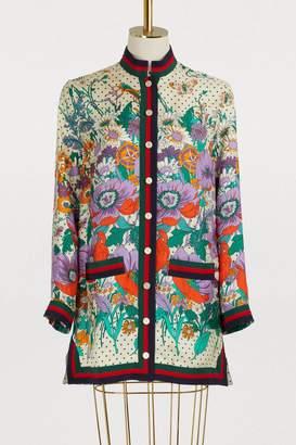 Gucci GG garden silk jacket