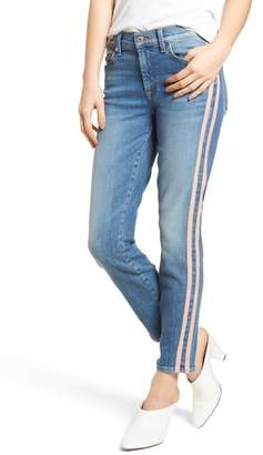7 For All Mankind Roxanne Faux Suede Stripe Ankle Skinny Jeans