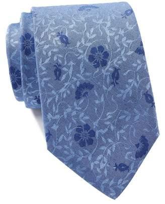 Calvin Klein Brushed Floral Tie