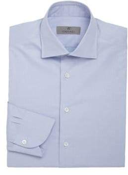 Canali Solid Cotton Dress Shirt