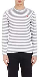 Comme des Garcons Men's Striped Long-Sleeve T-Shirt - Gray