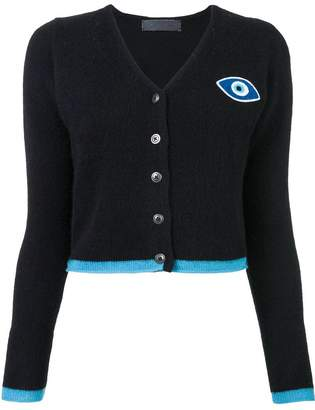 The Elder Statesman eye embroidered cardigan